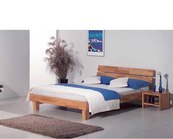 Massivholzbett Varese Holz Kopfteil 200x200