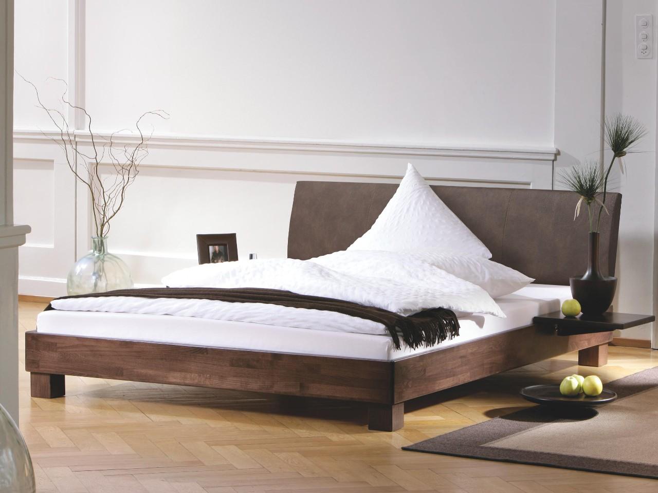 Wood-Line Bett Ivio Lecco 120x200 Casual carbon 334 Buche weiss