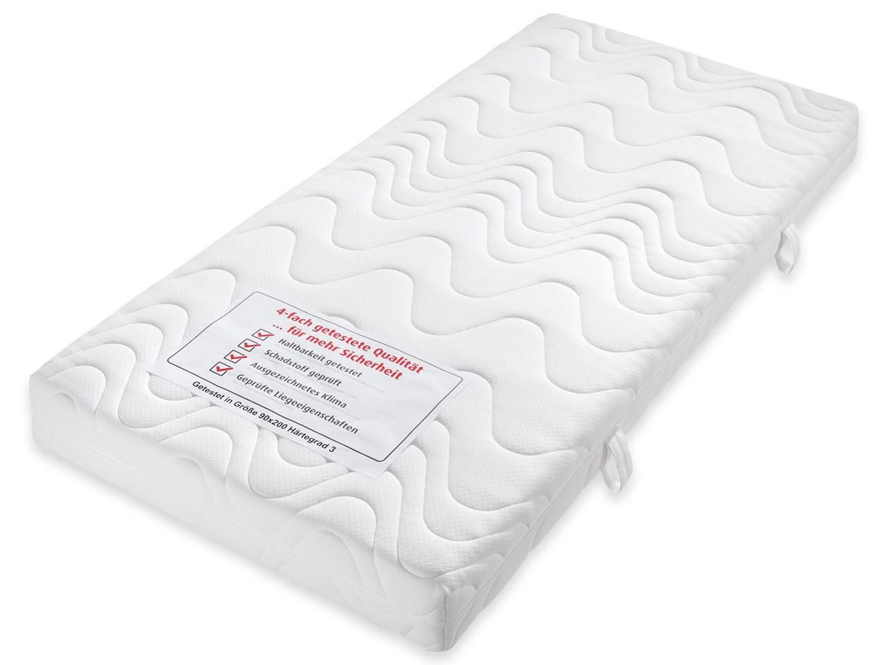 Beco Komfortschaum Matratze Ortho-Star 4-fach getestete Qualität MR111811 90x200 H3 - fest - über 80 kg