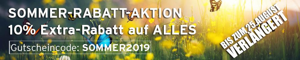 Sommer-Rabatt-Aktion 2019 - 10% auf ALLES