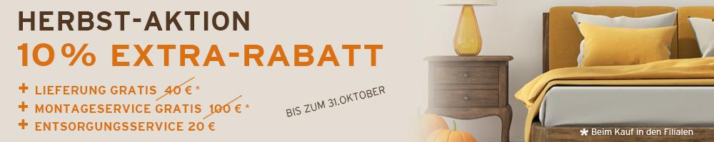 Herbst Aktion 2020 - 10% Extra-Rabatt auf ALLES