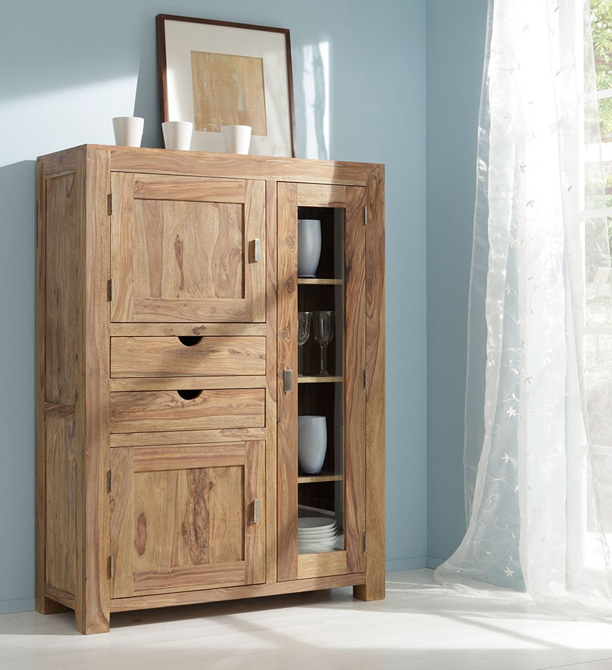 Wolf Möbel Highboard Sheesham 6403-K