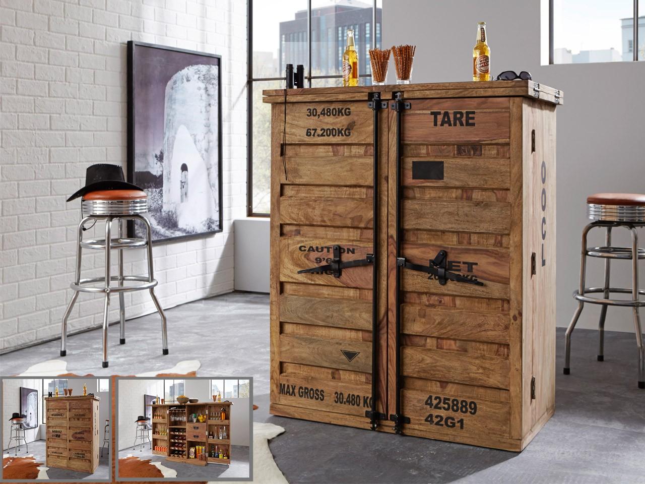 Wolf Möbel Bar aufklappbar mit 2 Türen 6909-K