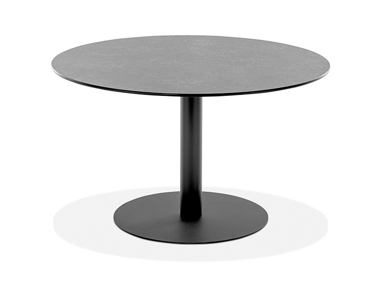 Niehoff Gartentisch Bistro rund G520.006.095 Durchmesser 95 cm Granit Stahl verzinkt