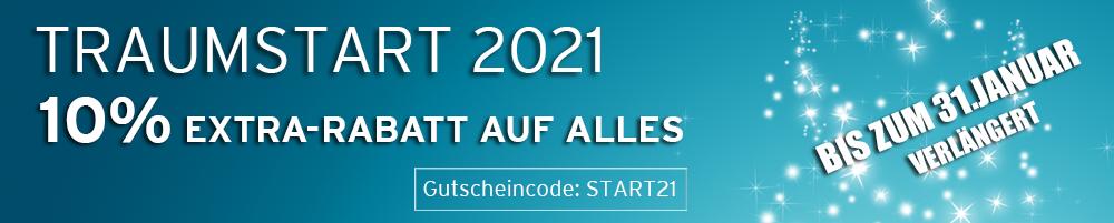 TRAUMSTART 2021 - BIS ZU 13% EXTRA-RABATT AUF ALLES