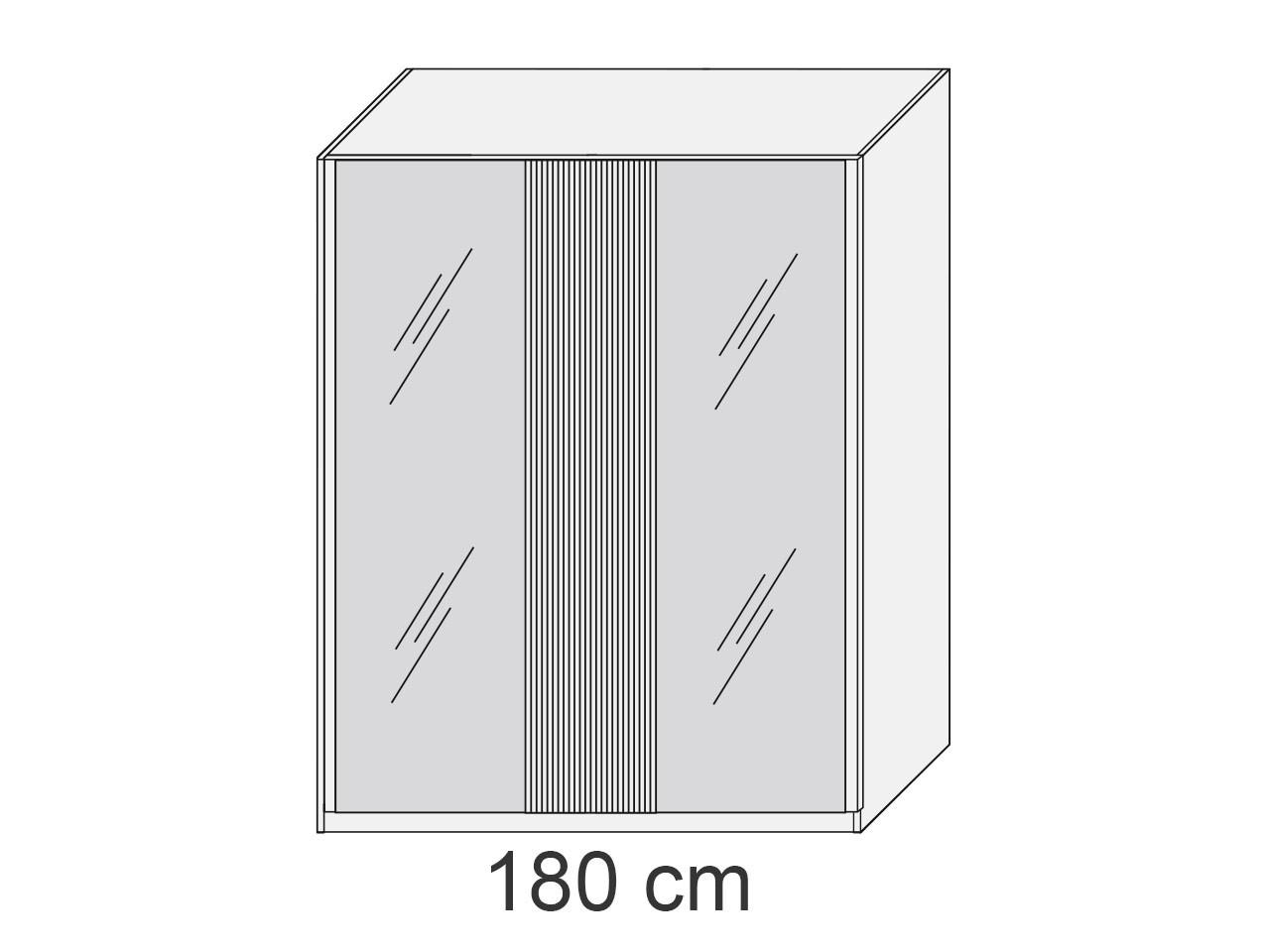 M&H Zusatzausstattung Schwebetürenschrank Jupiter III 180 cm 100.30.05 Einlegeboden 50 cm Buche