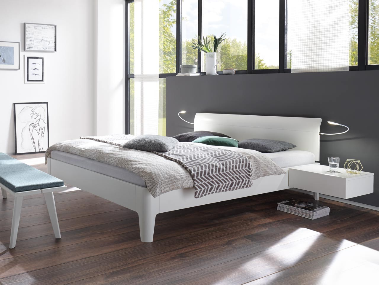 hasena fine line bett xylo vola. Black Bedroom Furniture Sets. Home Design Ideas